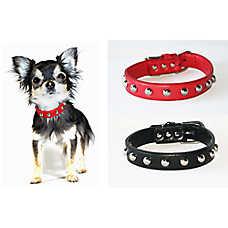 Hip Doggie Silver Stud Dog Collar