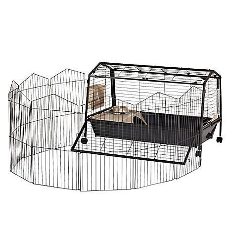 Oxbow Rabbit Habitat With Play Yard Small Pet Cages