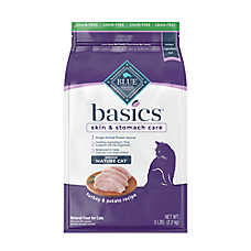 BLUE Basics® Limited Ingredient Grain Free Turkey & Potato Indoor Senior Cat Food