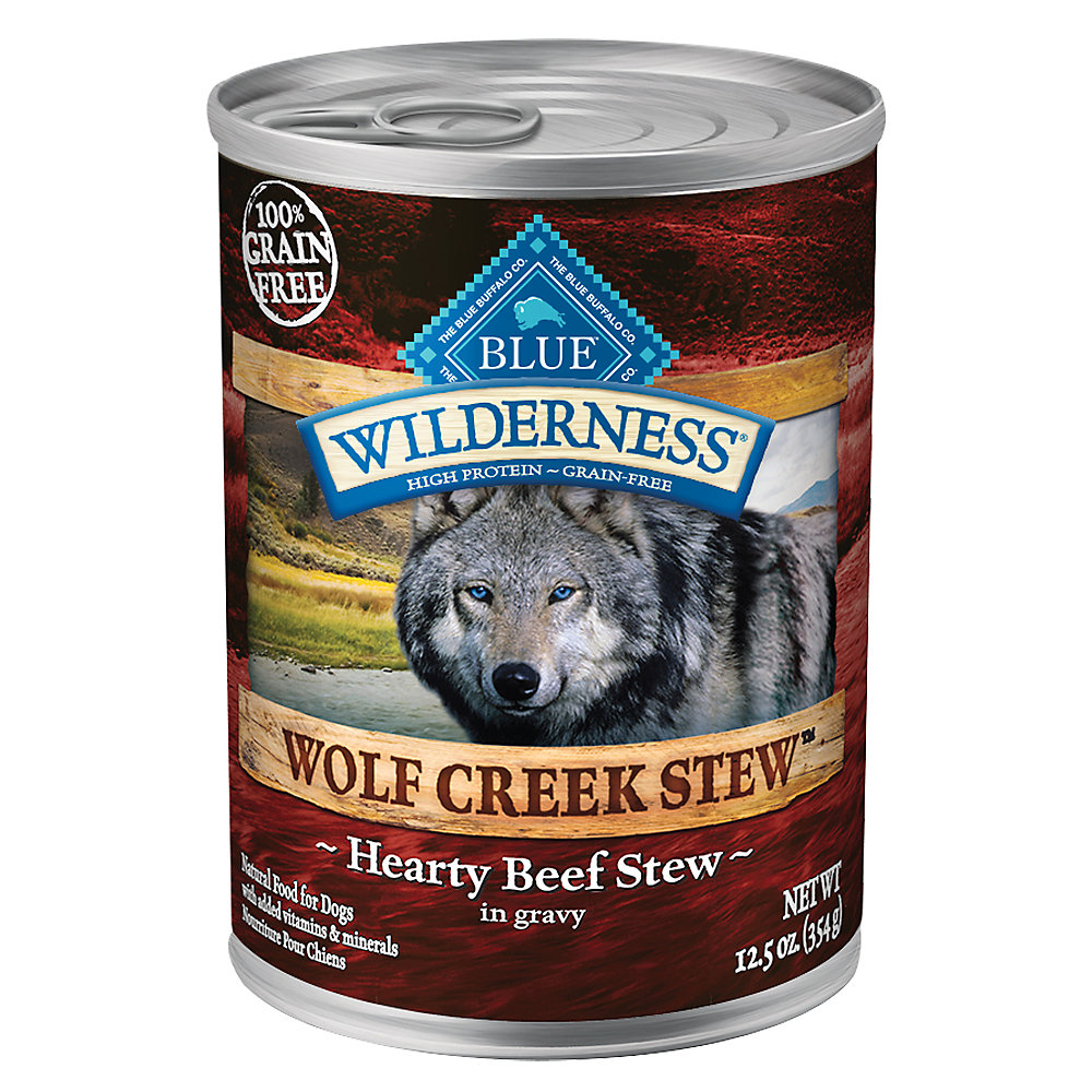 Blue Buffalo Wilderness Wolf Creek Stew Grain Free Beef Adult Dog Food, $2.39