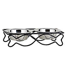 Whisker City® Fish Double Diner Bowl