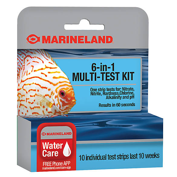 Marineland® 6-in-1 Multi-Test Kit   fish Water Quality ...