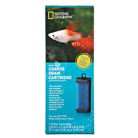 National geographic coarse form aquarium filter cartridge for Petsmart fish filters
