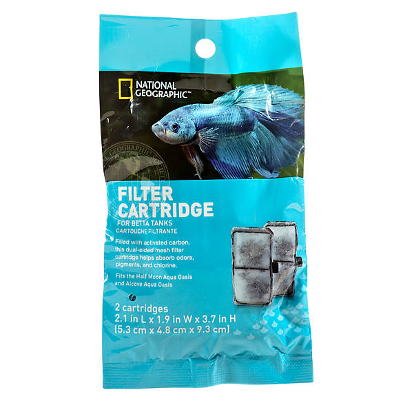 national geographic™ betta tank filter cartridge | fish filter media ...