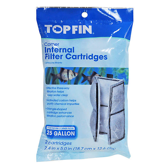 Top fin corner internal aquarium filter cartridges fish for Petsmart fish filters