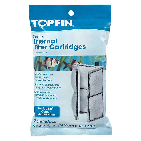 Top fin 15 corner filter cartridge fish filter media for Petsmart fish tank filters