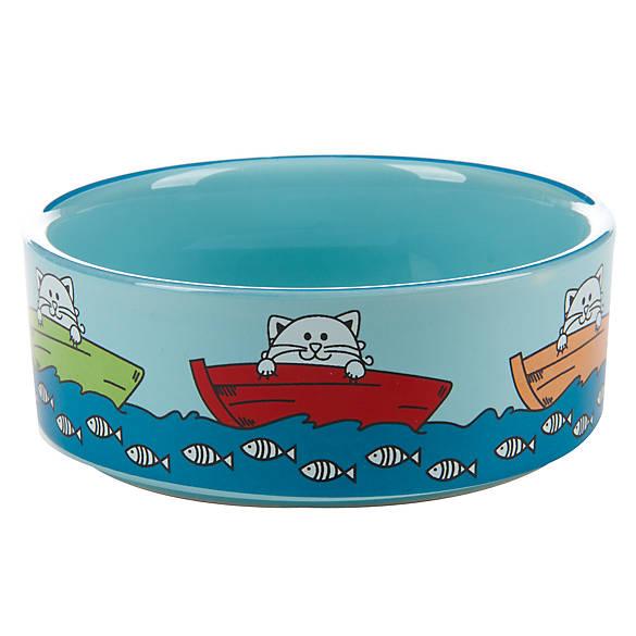 Whisker city fishing cat bowl cat food water bowls for Fish bowl petsmart