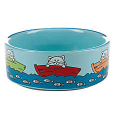 Whisker City® Fishing Cat Bowl