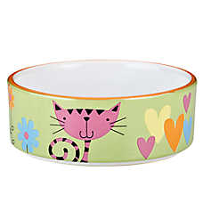 Whisker city heart kitty cat bowl cat food water for Fish bowl petsmart