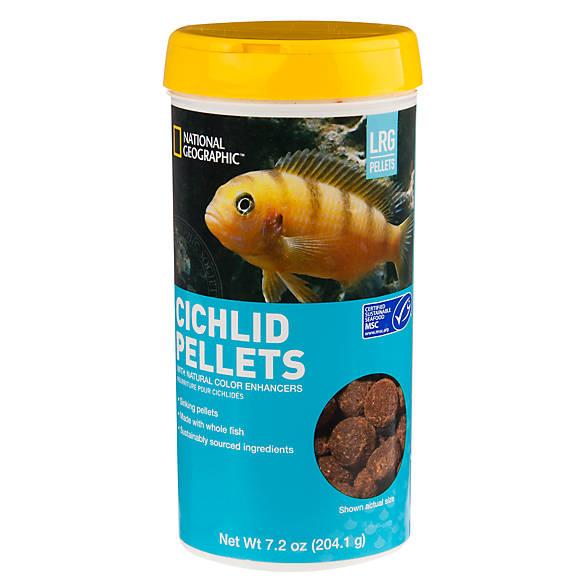 National geographic large cichlid food fish food petsmart for Cichlid fish food