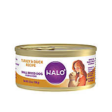 HALO® Small Breed Adult Dog Food - Natural, Grain Free, Turkey & Duck Recipe