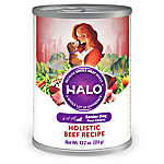 HALO® Holistic Wet Dog Food, Senior, Beef Recipe, 13.2 oz
