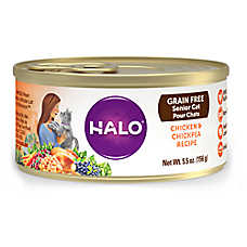 HALO® Senior Cat Food - Natural, Grain Free, Chicken & Chickpea Recipe