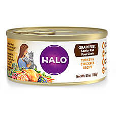 HALO® Senior Cat Food - Natural, Grain Free, Turkey & Chickpea Recipe