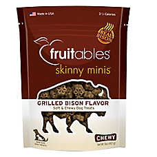 Fruitables® Skinny Minis™ Dog Treat - Grain Free, Bison