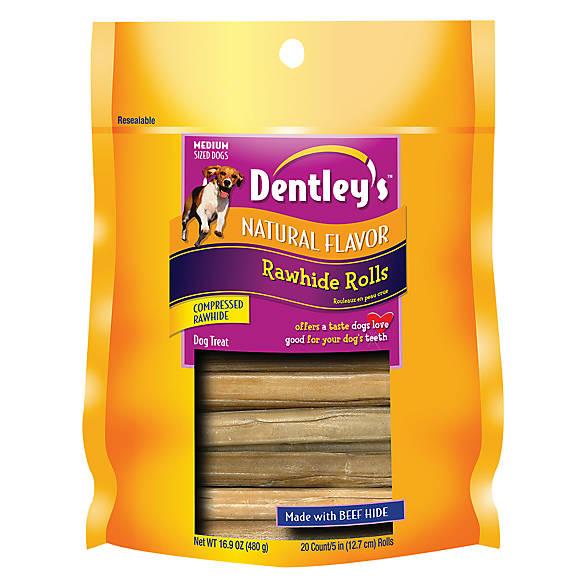 Dentley's® Rawhide Rolls Dog Treat | dog Bones & Rawhide