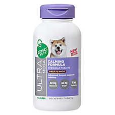 GNC Pets® Ultra Mega Calming Formula Dog Chewable Tablets - Beef