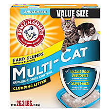 ARM & HAMMER™ Multi-Cat Unscented Cat Litter - Clumping