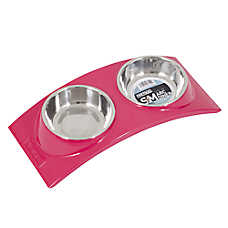 Wetnoz® Arc Double Diner Dog Bowl