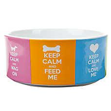 Top Paw® Keep Calm Dog Bowl