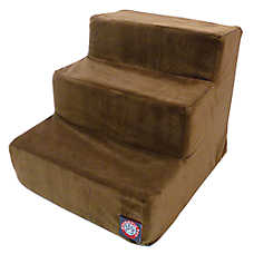 Majestic Pet 3 Step Faux Suede Pet Stairs