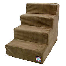 Majestic Pet 4 Step Faux Suede Pet Stairs