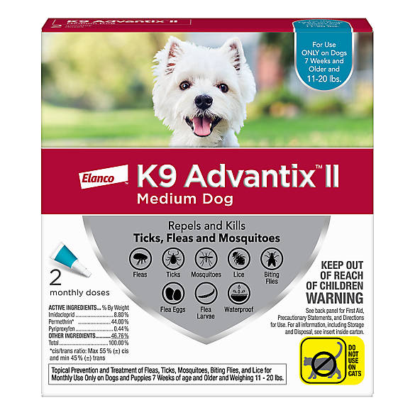 K9 Advantix® II 11 20 Lbs Dog Flea U0026 Tick Treatment