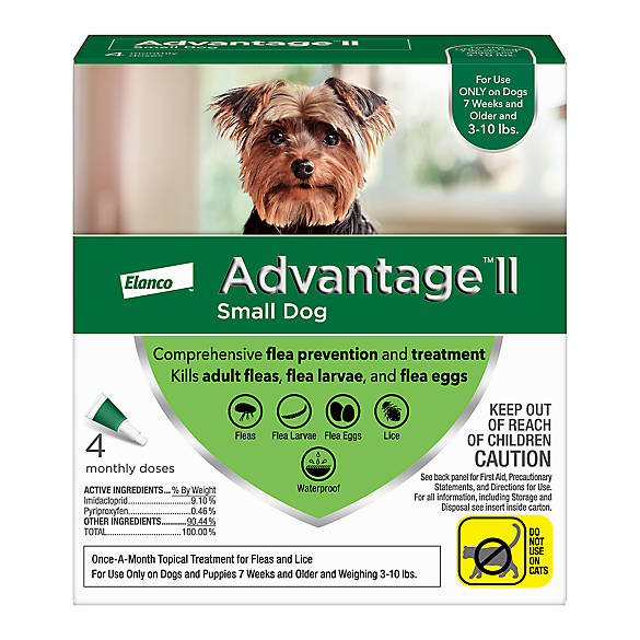 Advantage Ii 3 10 Lbs Dog Flea Lice Treatment Dog Spot Ons Petsmart