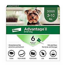 Advantage® II 3-10 lbs Dog Flea & Lice Treatment