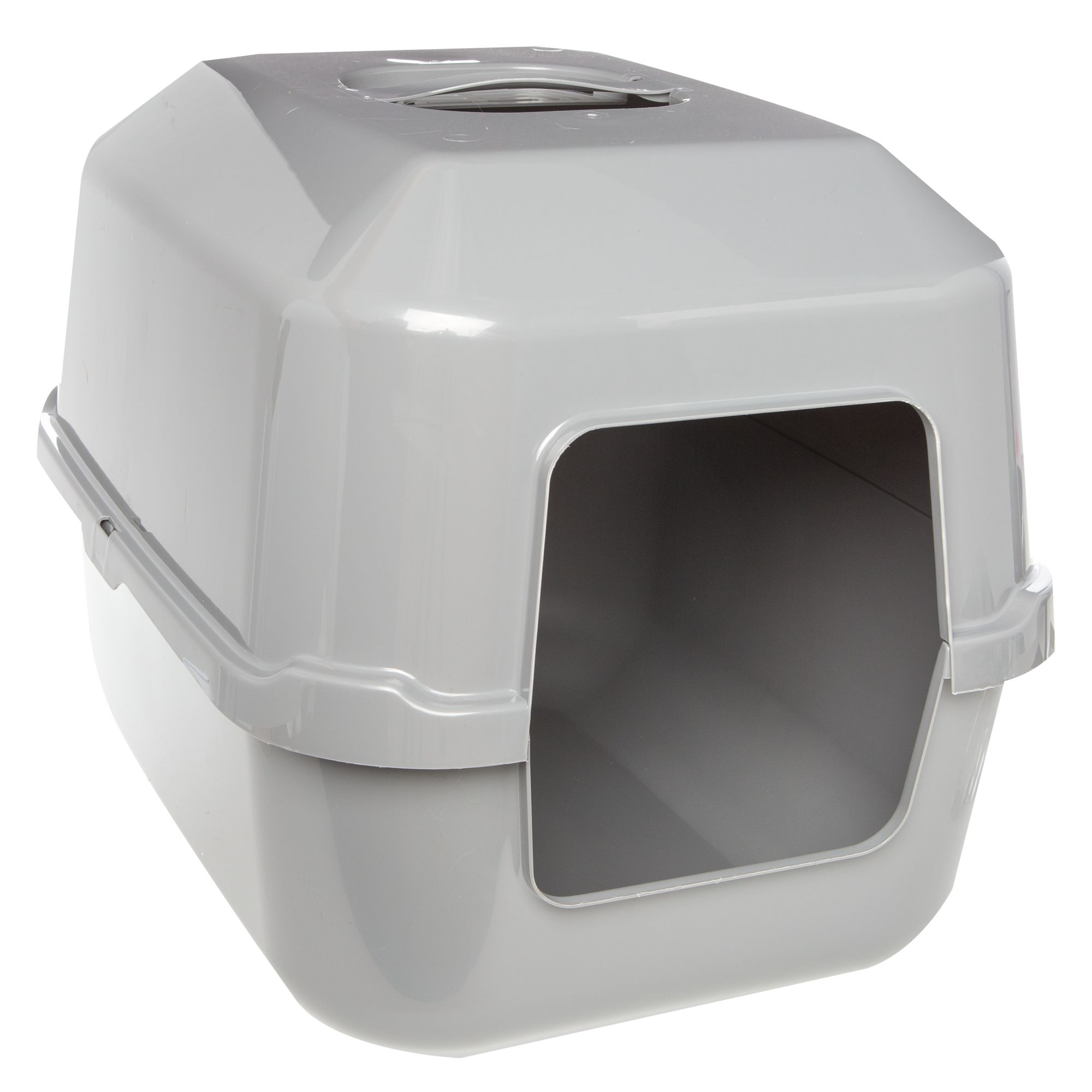 Covered Hooded EXTRA LARGE JUMBO XL BIG Cat GRAY Privacy Litter Box  Cat Box