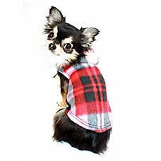 Hip Doggie Polar Fleece Plaid Hoodie