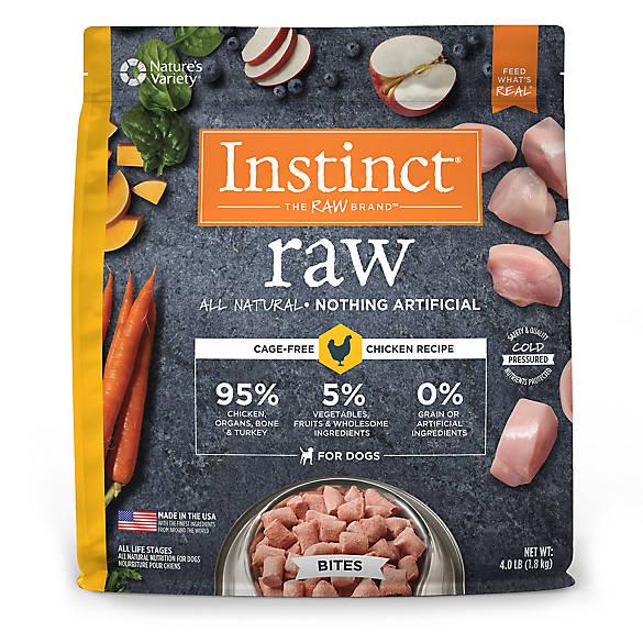 Natures Variety Instinct Raw Bites Dog Food Natural Grain Free