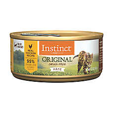 save 10% ea. when you buy 6+ entire stock Instinct® cat food, 3-5.5 oz. pouches & cans