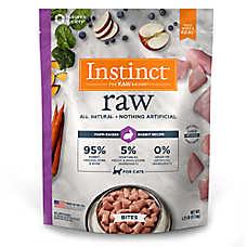 Nature's Variety® Instinct® Raw Bites Cat Food - Natural, Grain Free, Frozen Raw, Rabbit