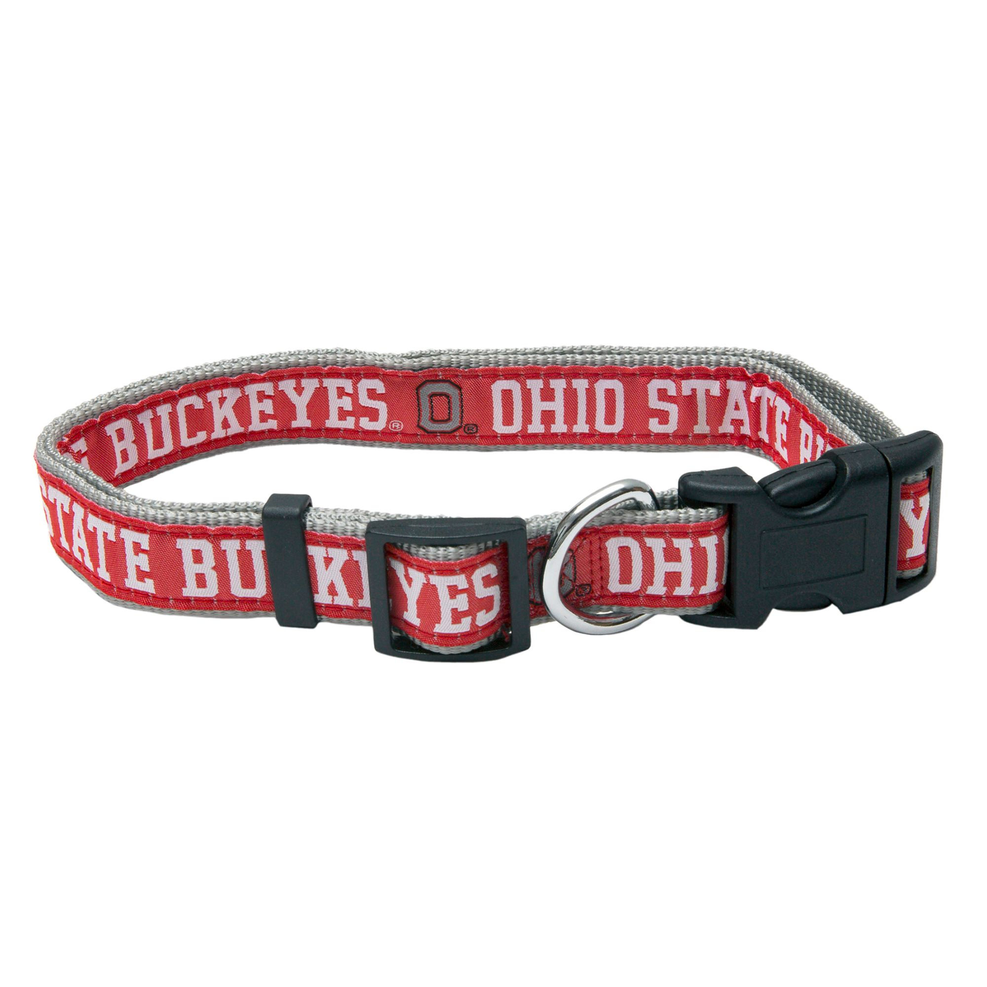 made in USA OHIO STATE BUCKEYES DOG COLLARS /& LEASHES