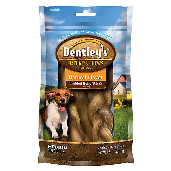 dentley 39 s nature 39 s chew braided bully stick dog treat dog chewy treats petsmart. Black Bedroom Furniture Sets. Home Design Ideas
