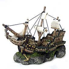 Top Fin® Ship & Sail Bubbler Aquarium Ornament