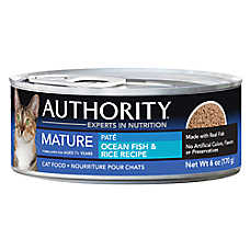 Authority® Mature Cat Food - Ocean Fish & Rice, Pate