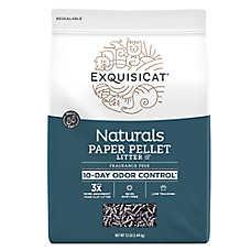 ExquisiCat® Naturals Paper Cat Litter - Natural, Fragrance Free