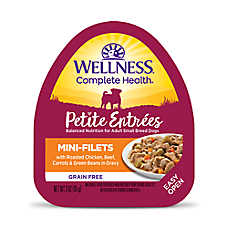 sale 4 / $6	entire stock Wellness® dog food, 3oz. tubs & pouches