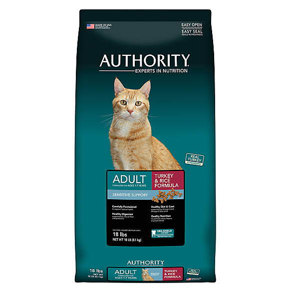 Authority Sensitive Support Adult Cat Food Turkey Rice