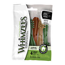 WHIMZEES Toothbrush Small Dental Dog Treat - Natural, Grain Free