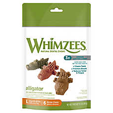 WHIMZEES Alligator Large Dental Dog Treat - Natural, Gluten Free