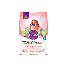 HALO® Small Breed Adult Dog Food - Natural, Grain Free, Holistic Wild Salmon & Whitefish Recipe