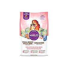 HALO® Small Breed Adult Dog Food - Natural, Grain Free, Holistic Wild Salmon & Whitefish Recipe