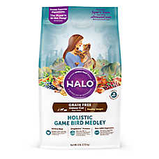 HALO® DreamCoat Indoor Healthy Weight Cat Food - Natural, Grain Free, Holistic Game Bird Medley