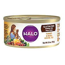 HALO® Indoor Cat Food - Natural, Gluten Free, Turkey & Quail Recipe
