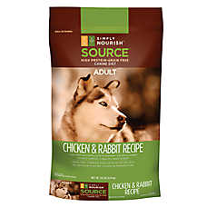 Simply Nourish™ SOURCE Adult Dog Food - Grain Free, High Protein, Chicken & Rabbit