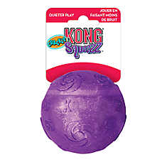 KONG® Crackle Squeezz® Ball Dog Toy - Squeaker (COLOR VARIES)