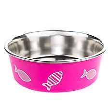 Whisker City® Bella Fish Cat Bowl